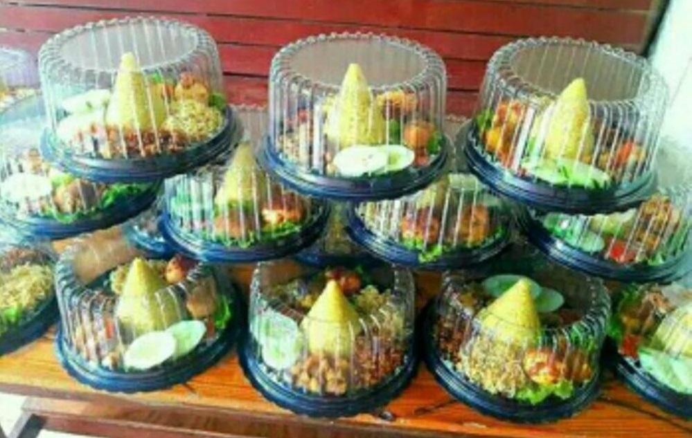 nasi tumpeng mini box  di Surabaya